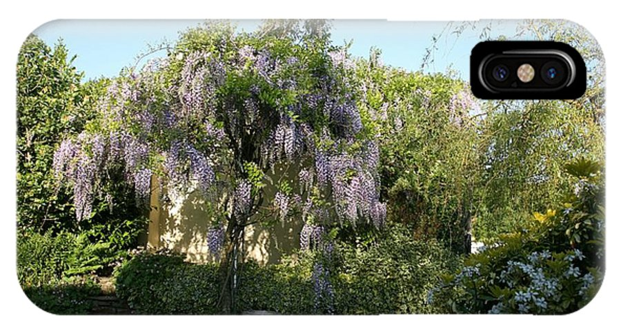 Wisteria IPhone X Case featuring the photograph Wisteria by Jonathan Hall