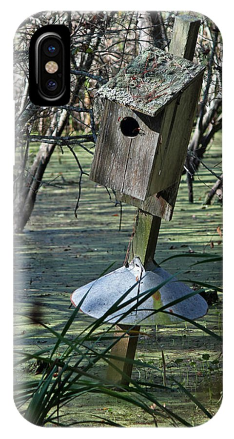 Wood Duck House IPhone X Case featuring the photograph Wood Duck House IIi by Suzanne Gaff