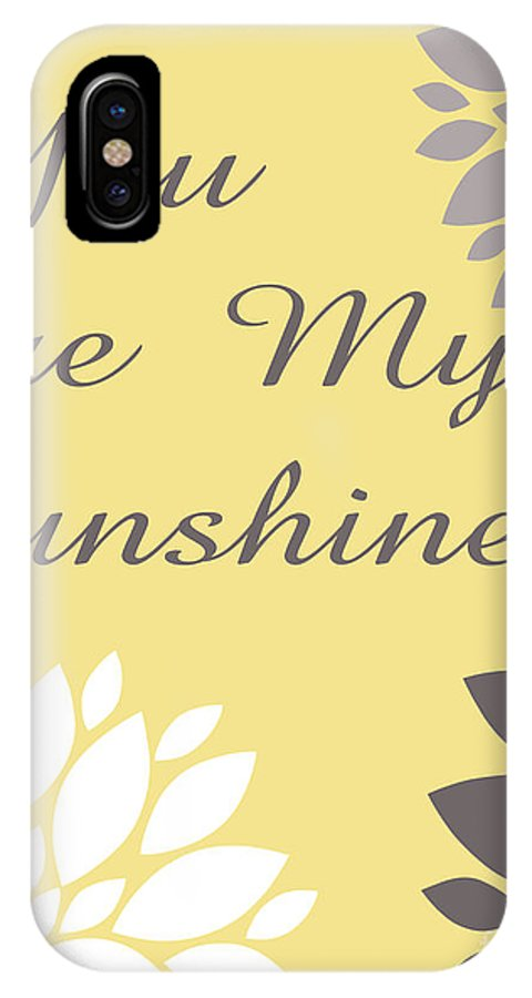 You IPhone X / XS Case featuring the digital art You Are My Sunshine Peony Flowers by Voros Edit