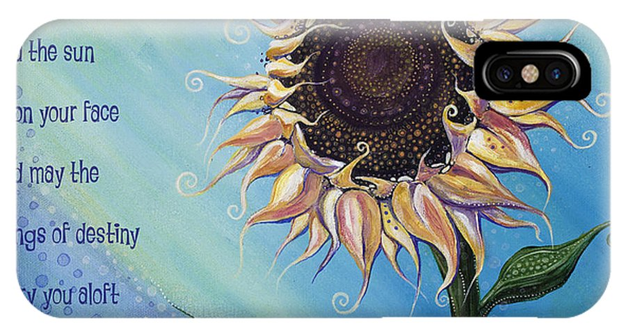 Art With Quote IPhone X Case featuring the painting You Are My Sunshine by Tanielle Childers