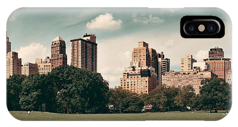 Manhattan IPhone X Case featuring the photograph Central Park Spring by Songquan Deng