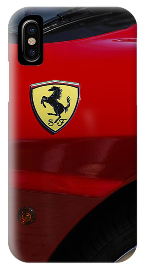 Transportation IPhone X Case featuring the photograph 2007 Ferrari F430 Spider F1 by Jill Reger