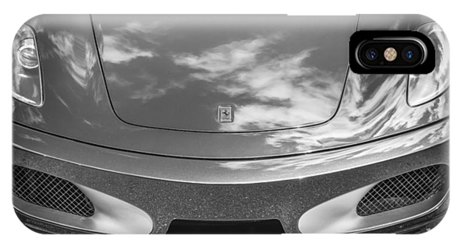 2008 Ferrari IPhone X Case featuring the photograph 2008 Ferrari F430 Bw by Rich Franco
