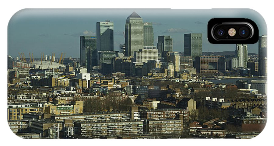City IPhone X Case featuring the photograph 2013 Docklands London Skyline by David French