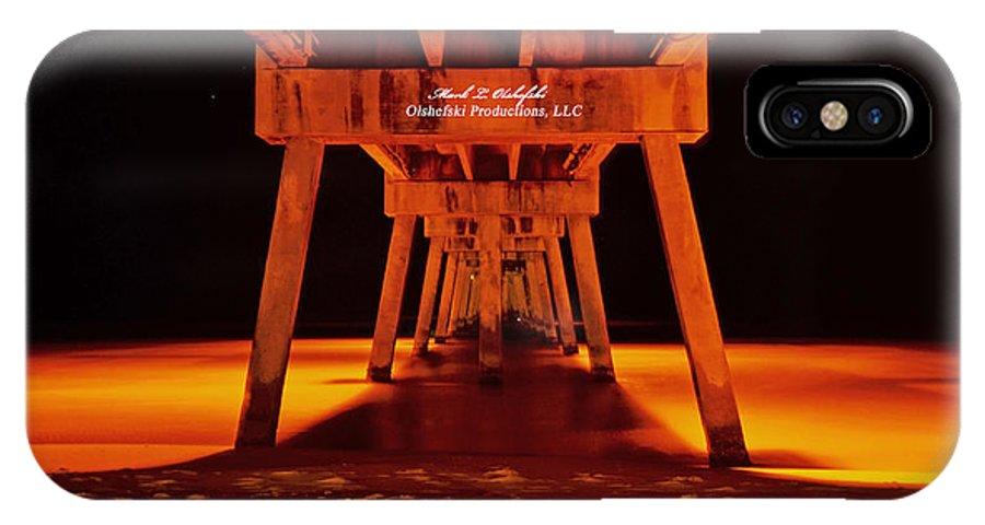 Okalossa Island Pier IPhone X Case featuring the photograph 2014 02 06 01 Okalossa Island Pier 0213 by Mark Olshefski