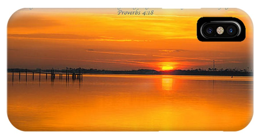 Canvas IPhone X Case featuring the photograph 2014 02 25 03 Proverbs 4 18 by Mark Olshefski