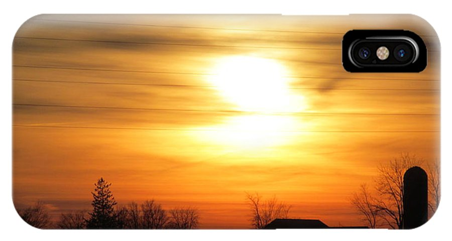 Sun IPhone X Case featuring the photograph 21 Dec 2012 Sunset One by Tina M Wenger
