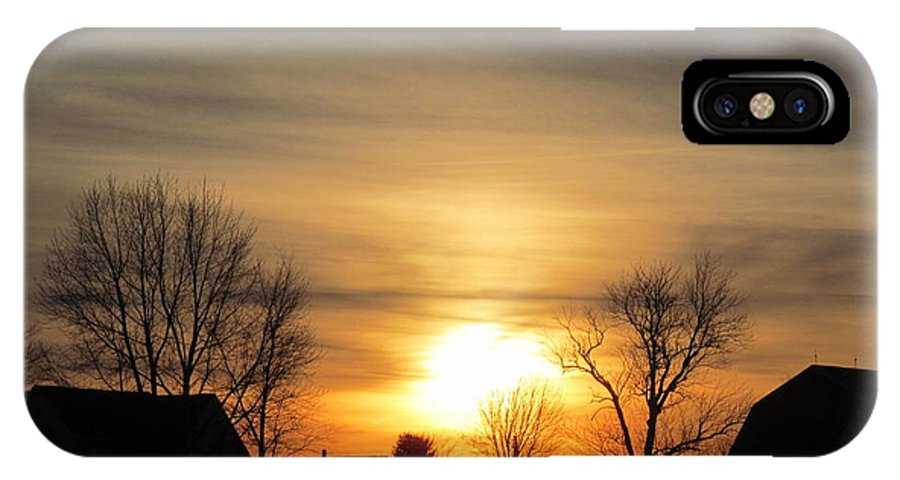 Suns IPhone X Case featuring the photograph 21 Dec 2012 Sunset Two by Tina M Wenger