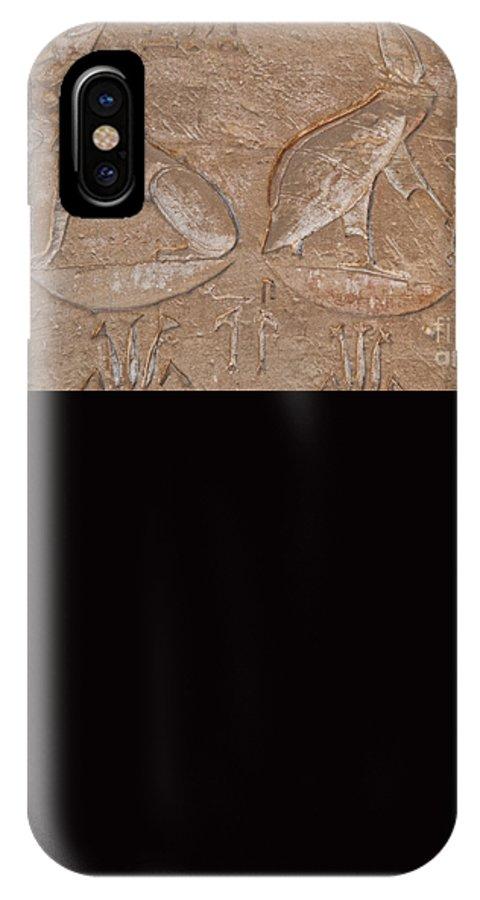 Africa IPhone X Case featuring the digital art Edfu by Carol Ailles