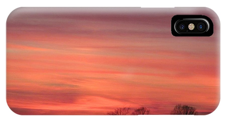 Sun IPhone X Case featuring the photograph 22 Dec 2012 Sunset Three by Tina M Wenger