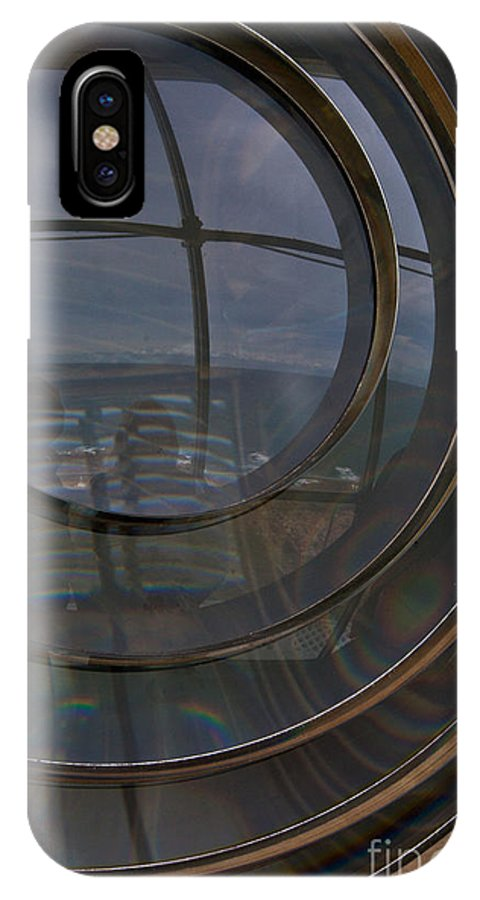 Crystal Optics IPhone X Case featuring the photograph Point Hicks Lighthouse by Alexander Whadcoat
