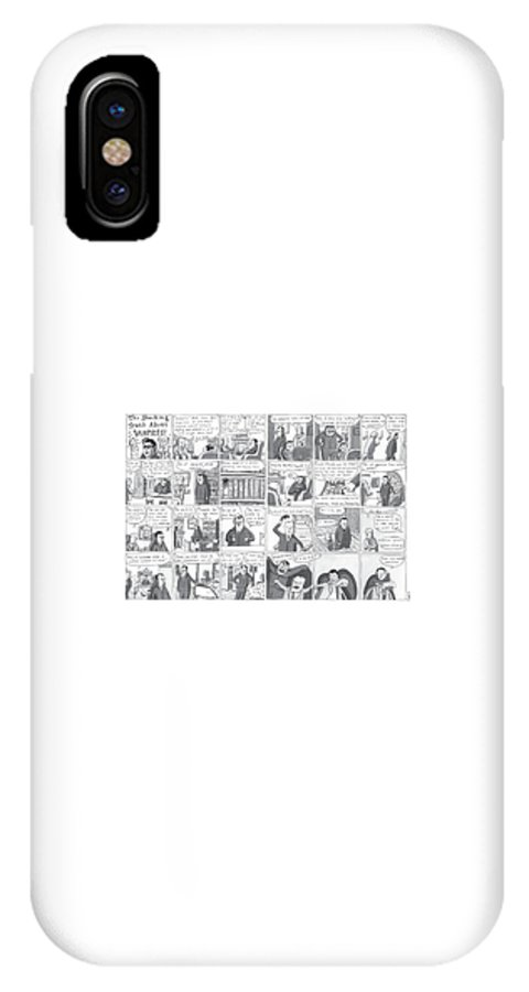 Vampires IPhone X Case featuring the drawing The Shocking Truth About Vampires ! by Zachary Kanin
