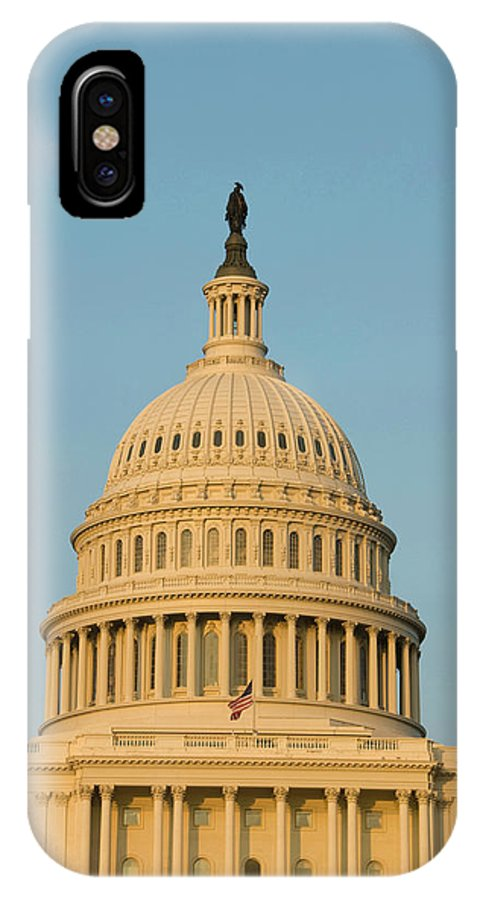 American IPhone X Case featuring the photograph Washington Dc, Usa by Lee Foster
