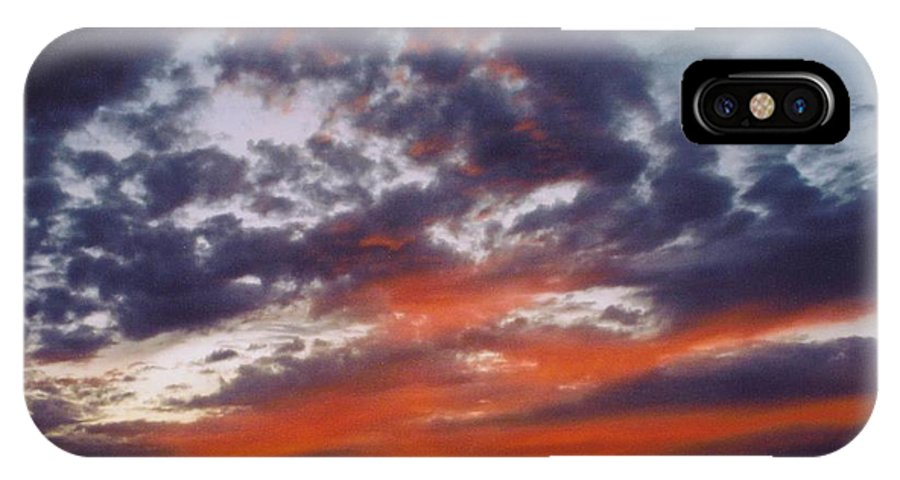 Gold IPhone X Case featuring the photograph Sky Scape by Robert Floyd