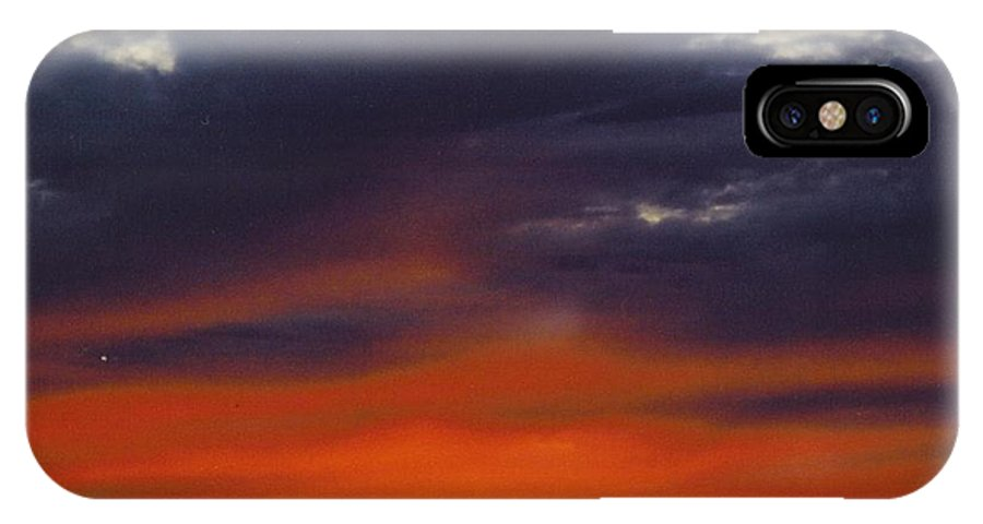 Multi Colors IPhone X Case featuring the photograph Sky Scape by Robert Floyd