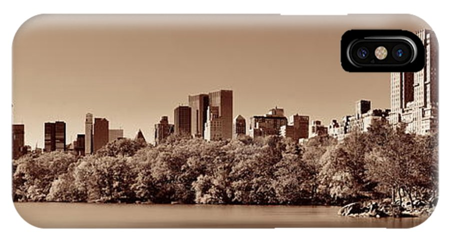 Manhattan IPhone X Case featuring the photograph Central Park Autumn by Songquan Deng