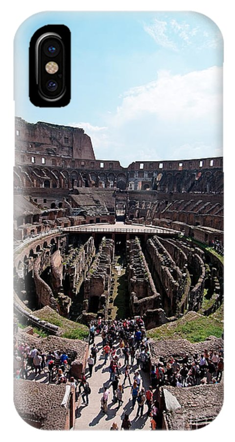 Colosseum IPhone X Case featuring the photograph Colosseum In Rome by George Atsametakis