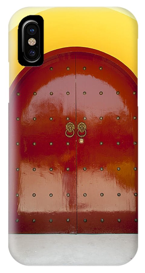 Asia IPhone X Case featuring the photograph 2631-door by David Lange