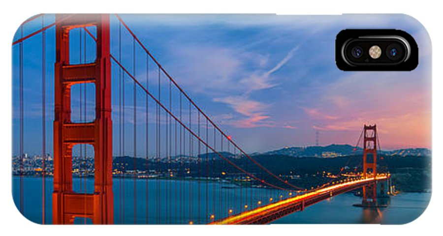 Golden Gate IPhone X / XS Case featuring the photograph Golden Gate Bridge by Mariusz Blach