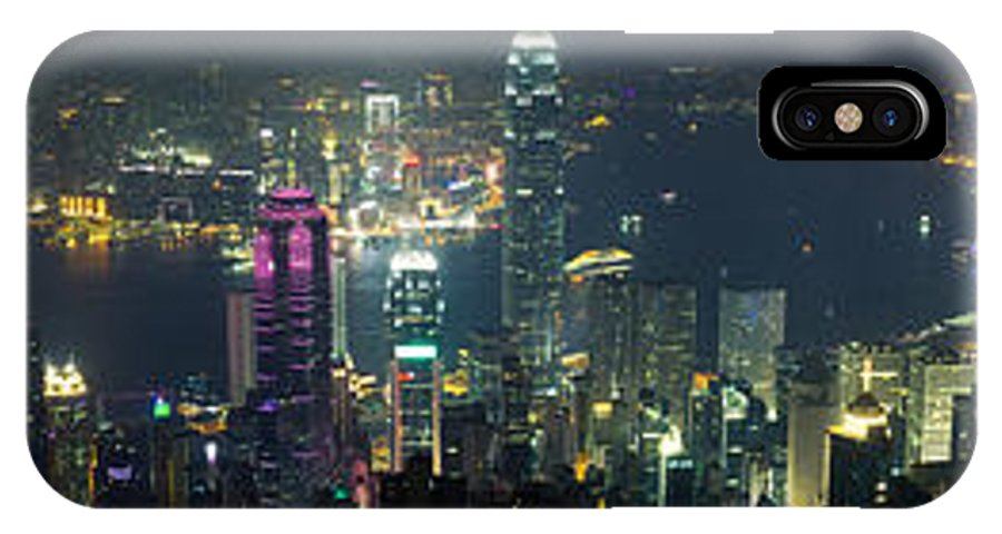 Hong Kong IPhone X Case featuring the photograph Hong Kong Panorama From Peak by Tuimages