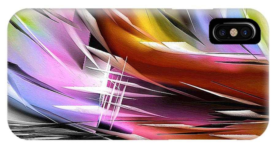 Abstract IPhone X Case featuring the painting 270a by Ely Arsha