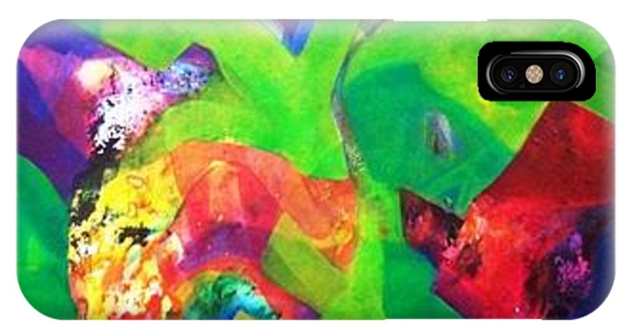 Nature IPhone X Case featuring the painting Sold by Sanjay Punekar