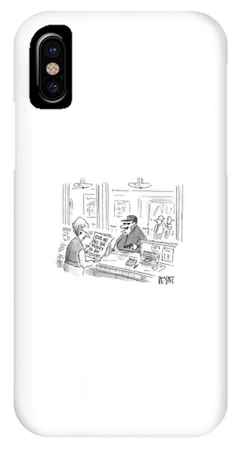 Economy IPhone X Case featuring the drawing New Yorker August 4th, 2008 by Christopher Weyant