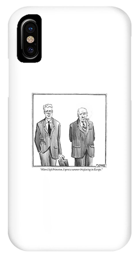 Word Play IPhone X Case featuring the drawing When I Left Princeton by Matthew Diffee