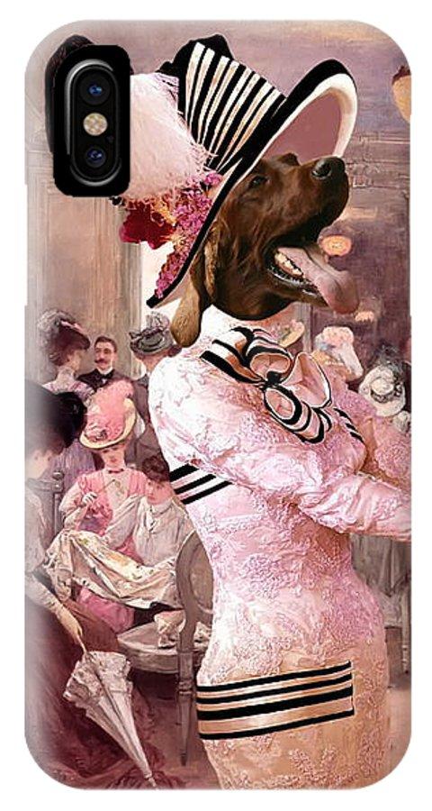 Irish Setter IPhone X Case featuring the painting Irish Setter Art Canvas Print by Sandra Sij