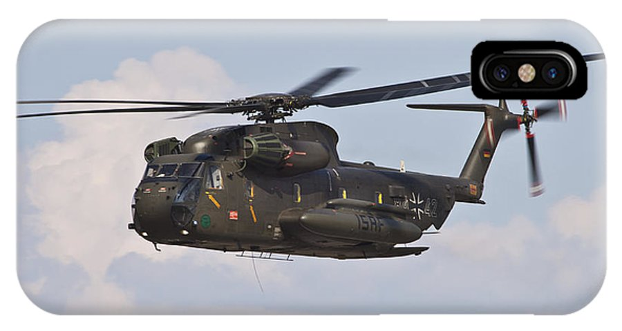Germany IPhone X Case featuring the photograph A Ch-53gs Of The German Army by Timm Ziegenthaler