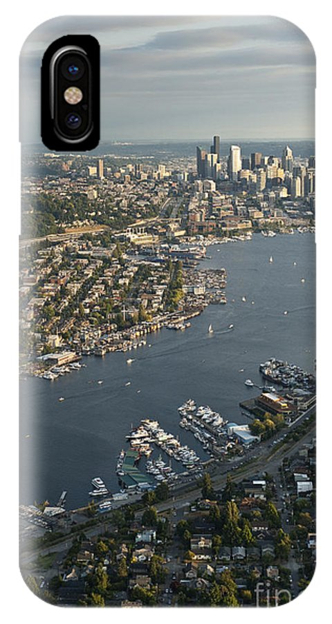 Elliott Bay IPhone X Case featuring the photograph Aerial View Of Seattle by Jim Corwin