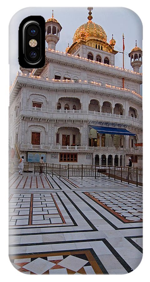Golden Temple IPhone X Case featuring the photograph Akal Takht by Devinder Sangha