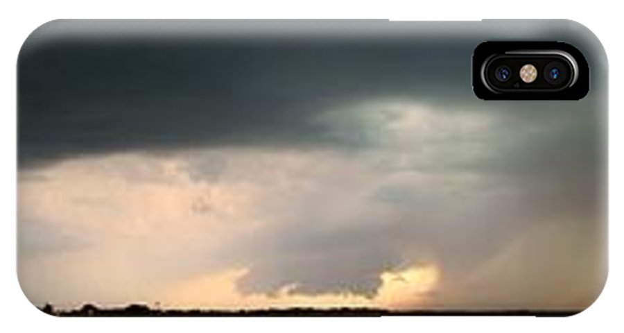 Stormscape IPhone X Case featuring the photograph Approaching Wall Cloud Axtell Nebraska by NebraskaSC