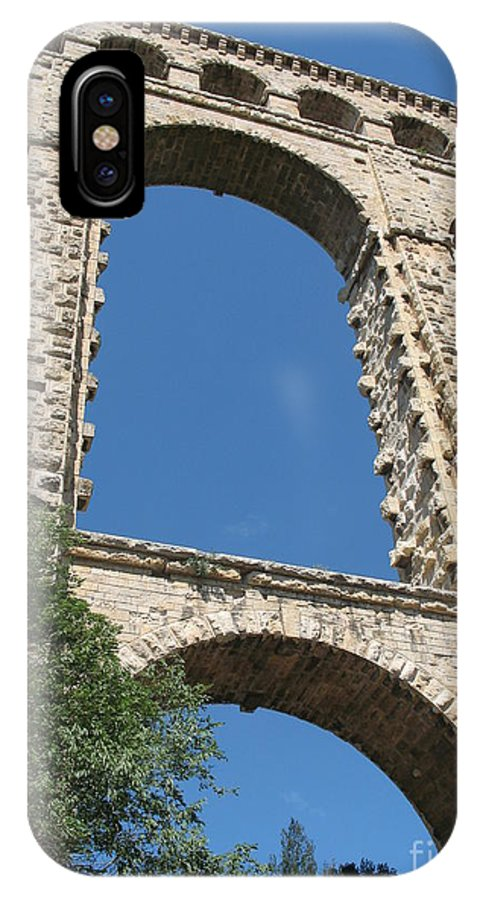 Aqueduct IPhone X Case featuring the photograph Aqueduct Roquefavour by Christiane Schulze Art And Photography