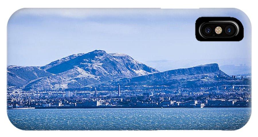 Edinburgh IPhone X Case featuring the photograph Arthur's Seat by Michael Schofield