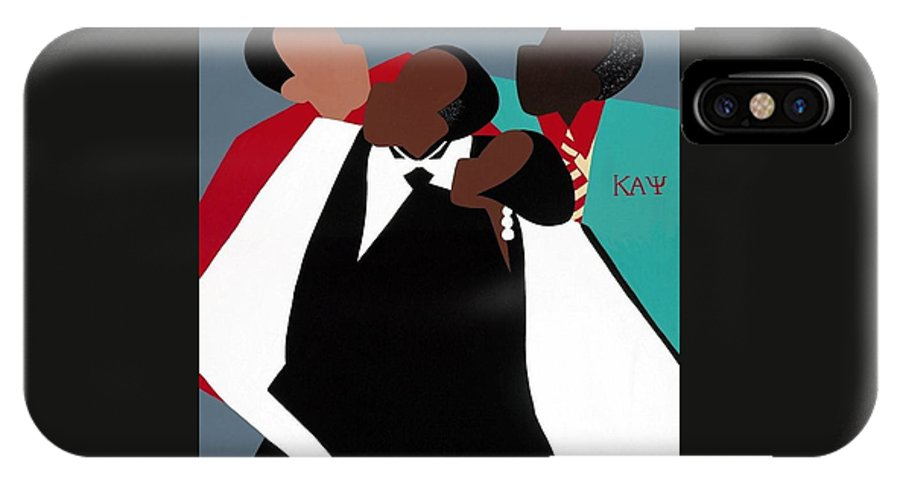 Kappas IPhone X Case featuring the painting Brotherhood by Synthia SAINT JAMES