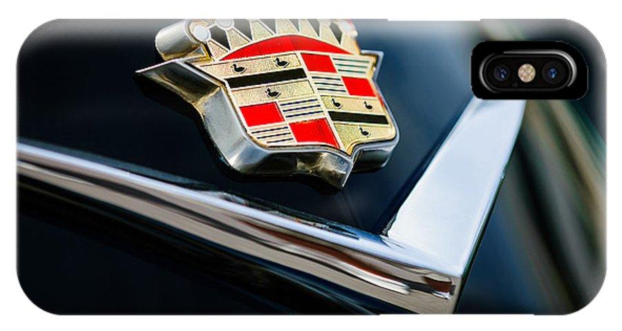 Cadillac Emblem IPhone X Case featuring the photograph Cadillac Emblem by Jill Reger