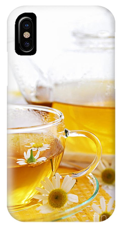 Camomile IPhone X Case featuring the photograph Chamomile Tea by Elena Elisseeva