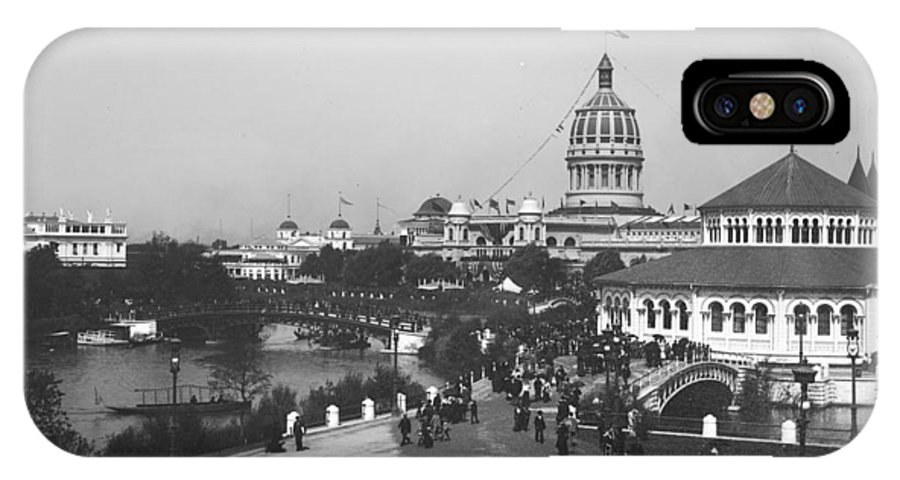 Columbian Exposition IPhone X Case featuring the photograph Chicago Worlds Columbian Exposition 1893 by Historic Photos