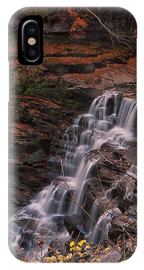 Landscape IPhone X Case featuring the photograph Corra Linn by Jean-Noel Nicolas