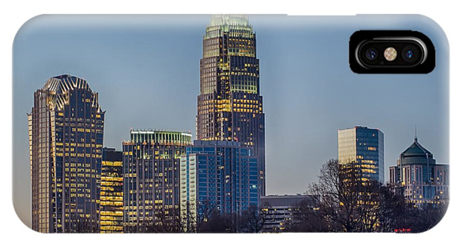 Early IPhone X Case featuring the photograph Early Morning In Charlotte Nc by Alex Grichenko