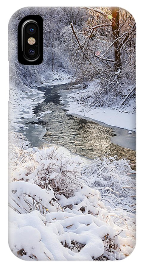 Winter IPhone X Case featuring the photograph Forest Creek After Winter Storm by Elena Elisseeva