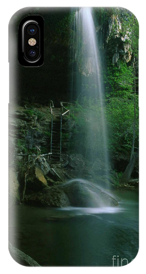 Nobi Nagase Photography Photograph Hamilton Pool Preserve Texas Hill Country Nature Waterfall Travis County Austin IPhone X Case featuring the photograph Hamilton Pool Nature Preserve by Nobi Nagase