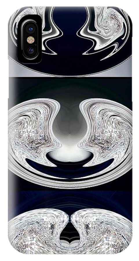 Mccombie IPhone X Case featuring the digital art Ice Storm Abstract by J McCombie