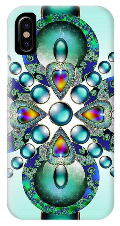 Kaleidoscope IPhone X Case featuring the mixed media Kaleidoscope by Ellen Henneke
