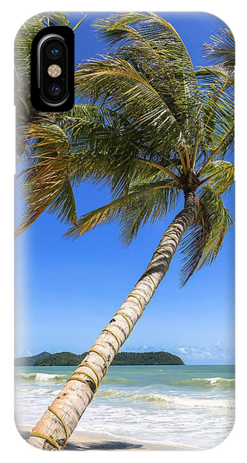 Palm Tree IPhone X Case featuring the photograph Langkawi Paradise by Didier Marti