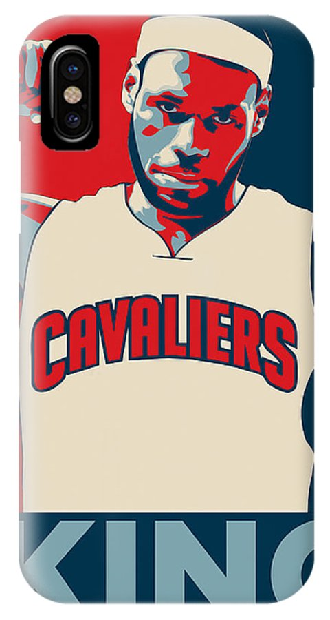 Lebron James IPhone X Case featuring the digital art Lebron James by Zapista