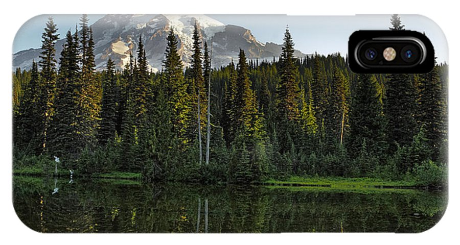 Mount IPhone X Case featuring the photograph Mount Rainier National Park - Washington by Brendan Reals