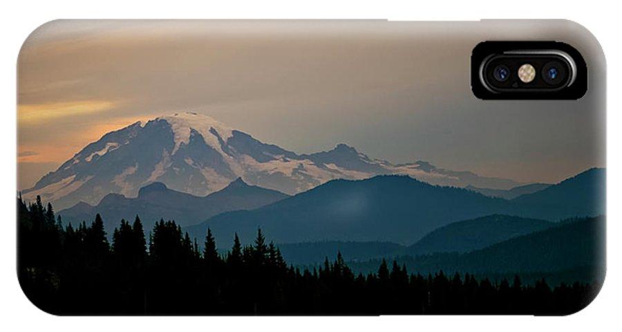 Mt Rainier IPhone X Case featuring the photograph Mt Rainier by Albert Seger