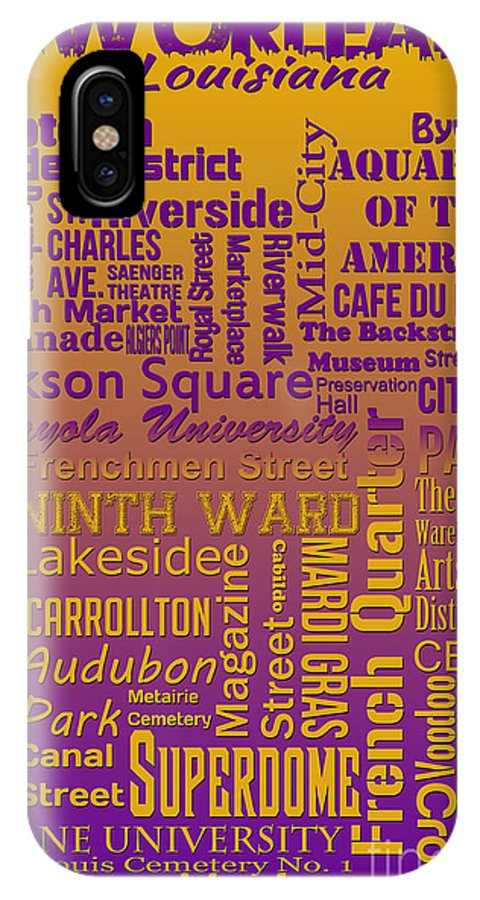 New Orleans IPhone X Case featuring the digital art New Orleans by Ryan Burton
